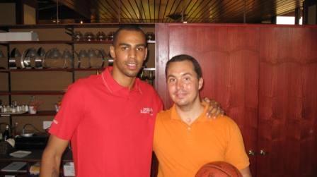 Août 2011 – Tristan rencontre Thabo Sefolosha