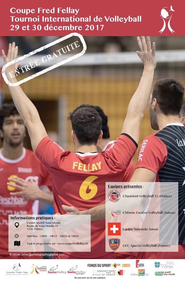 2017 Décembre – Coupe Fred Fellay – Tournoi international de Volleyball
