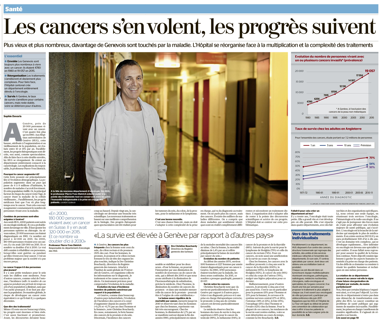 Les cancers s'envolent, les progrès suivent…